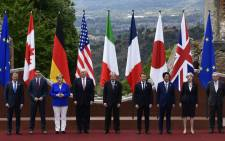World leaders at the 2017 G7 summit. Picture: AFP