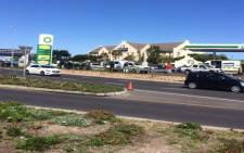 It's believed the man was killed after a failed attempted robbery at a petrol filling station just outside the Cape Town International Airport. Picture: Masa Kekana/EWN.
