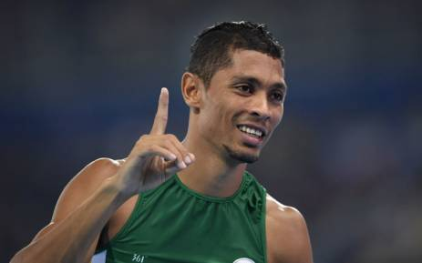 FILE: South Africa's Wayde van Niekerk celebrates winning the Men's 400m Final at the Rio 2016 Olympic Games at the Olympic Stadium in Rio de Janeiro on August 14, 2016. Picture: AFP
