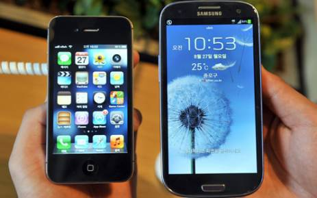 The Galaxy S3 phone surpasses Apple's iPhone as the number one smarthphone in the market.