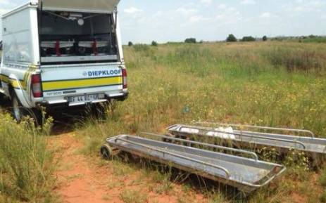 Razor blades and burnt black candles were found next to the girls bodies which were part of a satanic ritual. Picture: Masego Rahlaga/EWN.