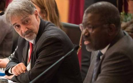 Francesco Rocca (L), the head of the International Federation of Red Cross and Red Crescent Societies (IFRC). Picture: media.ifrc.org