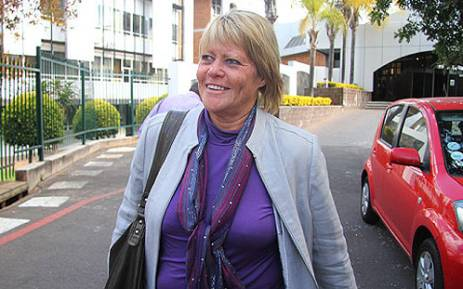 Suspended NPA prosecutor Glynnis Breytenbach walks out of the NPA offices in Silverton on 19 June 2012. Picture: Mandy Wiener/EWN.