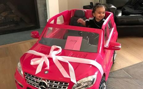 A screengrab of Rob Kardashian's daughter, Dream, who turned 1.