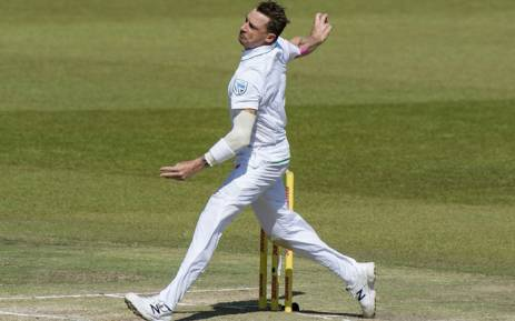 FILE: Proteas bowler Dale Steyn lets rip with a quick delivery. Picture: AFP
