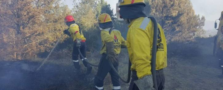 FILE: Firefighters from Working on Fire put out a fire that broke out in the Knysna area on 7 July 2017. Picture:@wo_fire /Twitter