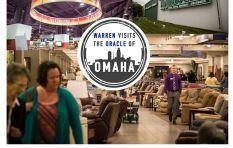 28 hours of transit sees Warren Ingram at the Nebraska Furniture Mart