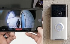 This video doorbell let's homeowners check on the front door from their phones