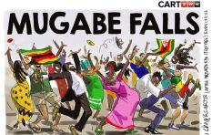 [CARTOON] Mugabe Falls