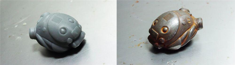 Master model ve metal soğuk döküm örneği