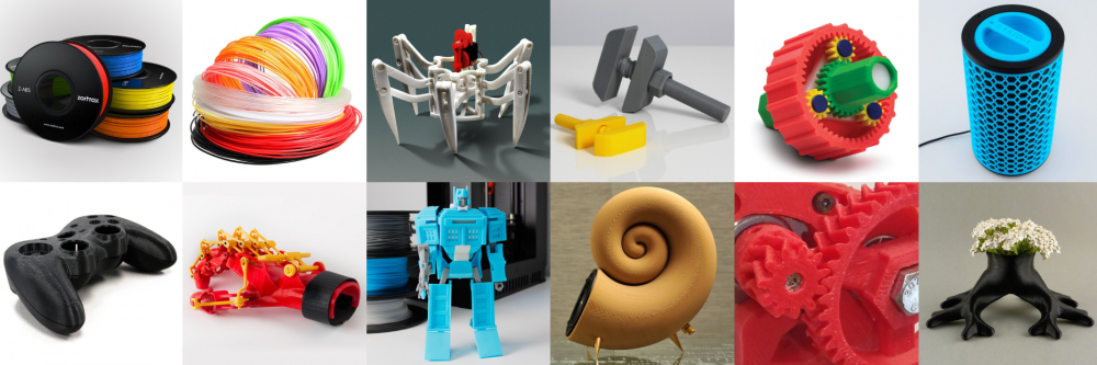 Abs filamenti baskı örnekleri