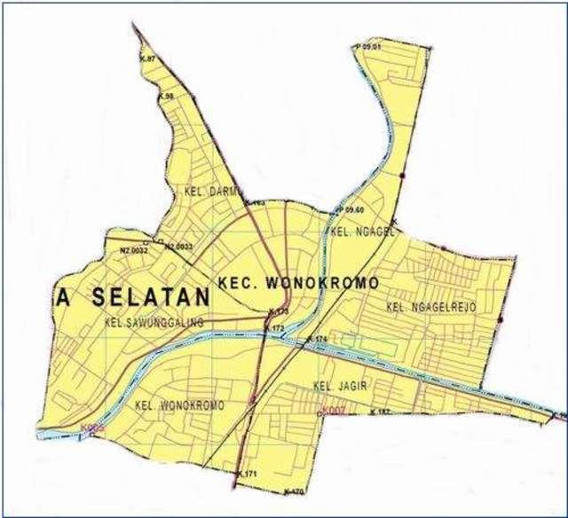 Peta Kecamatan Wonokromo Surabaya Selatan