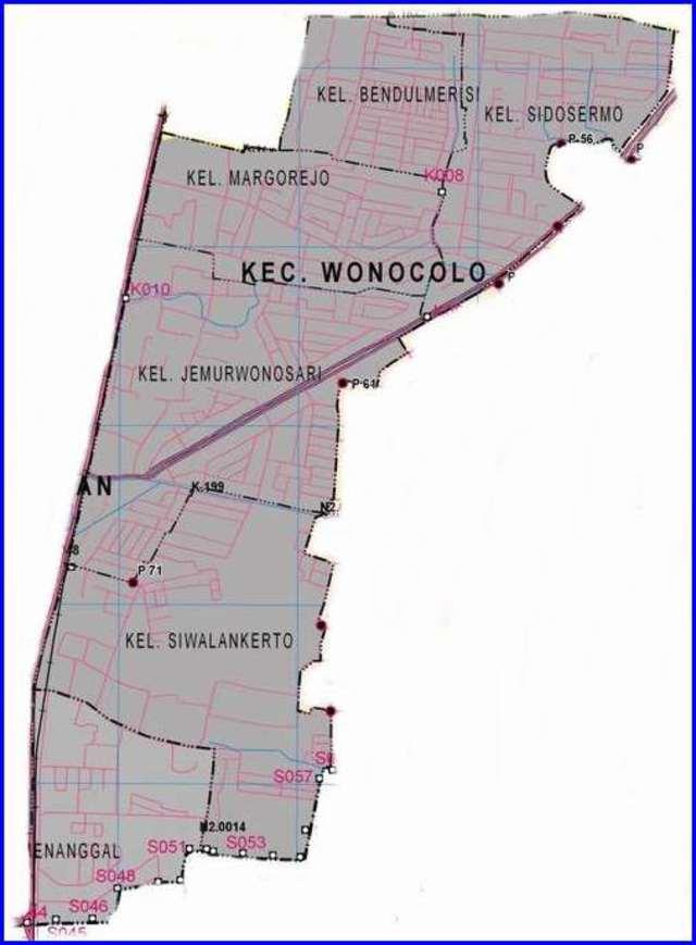 Peta Kecamatan Wonocolo Surabaya Selatan