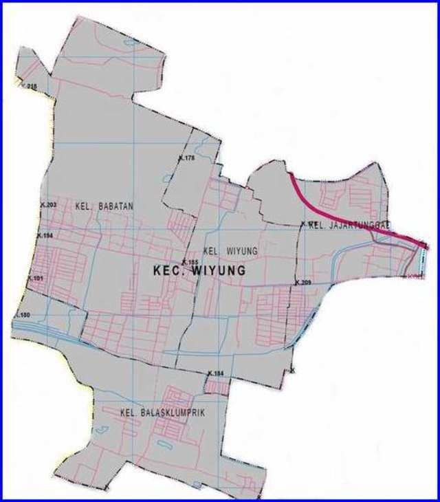 Peta Kecamatan Wiyung Surabaya Selatan