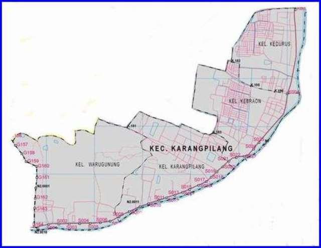 Peta Kecamatan Karangpilang Surabaya Selatan