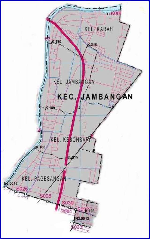 Peta Kecamatan Jambangan Surabaya Selatan