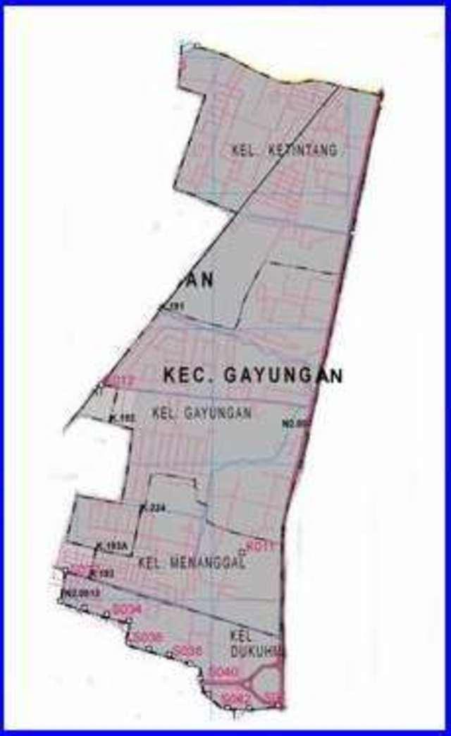 Peta Kecamatan Gayungan Surabaya Selatan