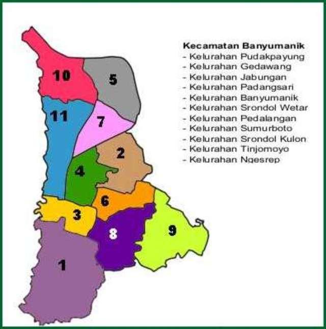 Peta Kecamatan Banyumanik Kota Semarang