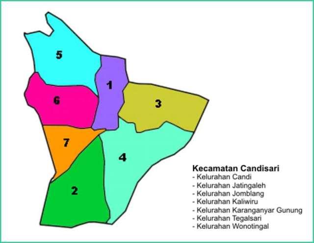 Peta Kecamatan Candisari Kota Semarang