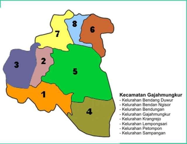 Peta Kecamatan Gajahmungkur Kota Semarang