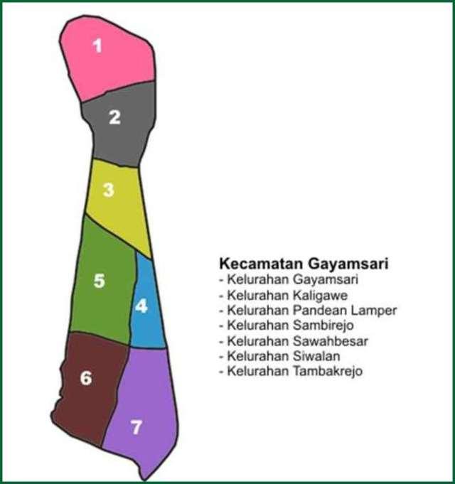Peta Kecamatan Gayamsari Kota Semarang