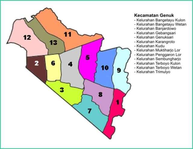 Peta Kecamatan Genuk Kota Semarang