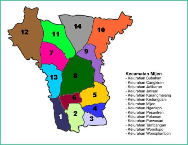 Peta Kecamatan Mijen Kota Semarang