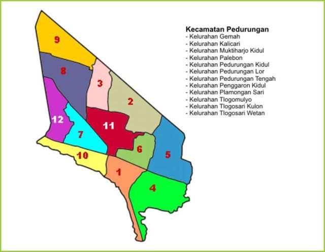 Peta Kecamatan Pedurungan Kota Semarang