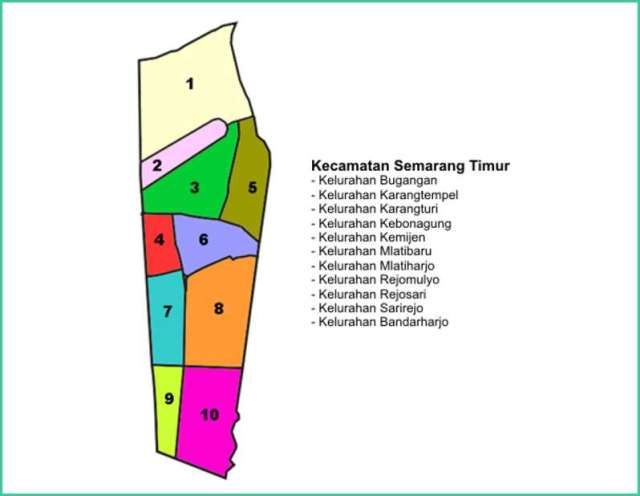 Peta Kecamatan Semarang Timur
