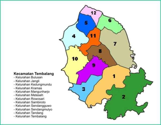 Peta Kecamatan Tembalang Kota Semarang