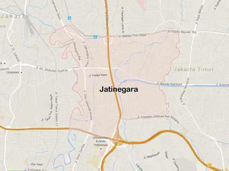 Peta lokasi kawasan Jatinegara Jakarta Timur