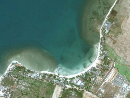 Pantai Bandengan Jepara tampak dari Google Earth