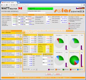 Web интерфейс контрольной панели