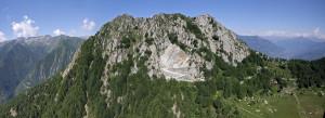 La cava di Pietra Verde di Courtil, sul Mont Charvatton