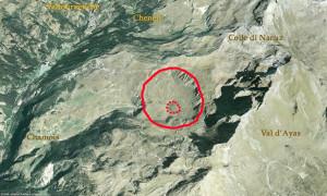 Il grande inghiottitoio visto dal satellite.