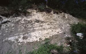 Piccola sezione di accumuli glaciali pleistocenici
