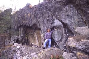 Macina lasciata in parete a Fontillon