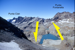 4. Esso si imposta, come il Lago Piccolo vicino e come il Lago Livournea, sulla faglia Valcournera-Vaufrède responsabile, fra l'altro, della gran frana di Chamen in Valpelline, caduta nel 1952.