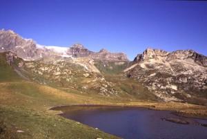 Dal laghetto superiore di Verney, vista sulla Pointe Rousse.