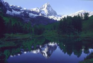 Il Lago Blu all'imbrunire