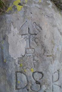 8. Incisioni a carattere religioso su clorite. Lac Couvert, Issogne.