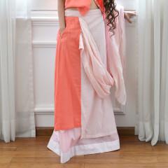 Skirt With Sari Pallu Drape