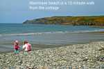 Abermawr beach is 15 minute walk from the cottage