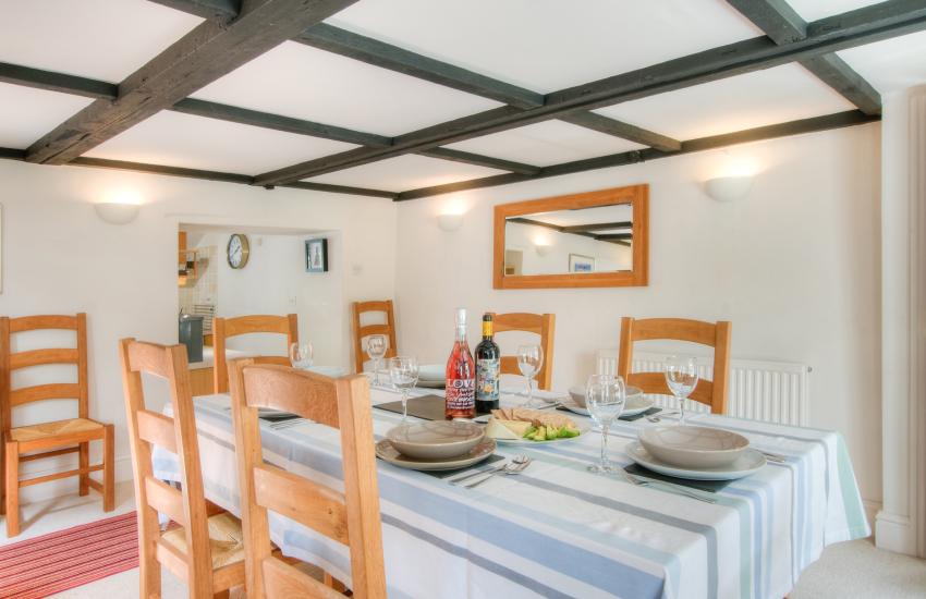 Llanerchaeron holiday cottage  - dining