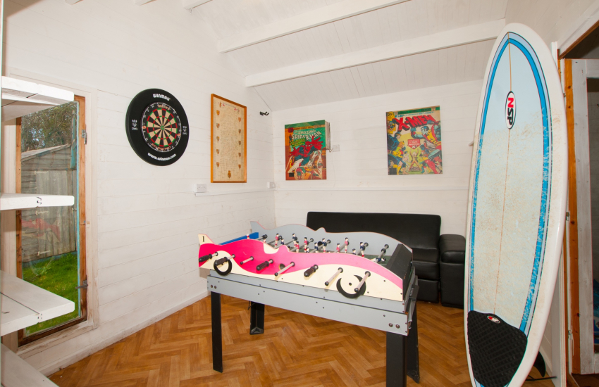 Cardigan holiday cottage  - games room