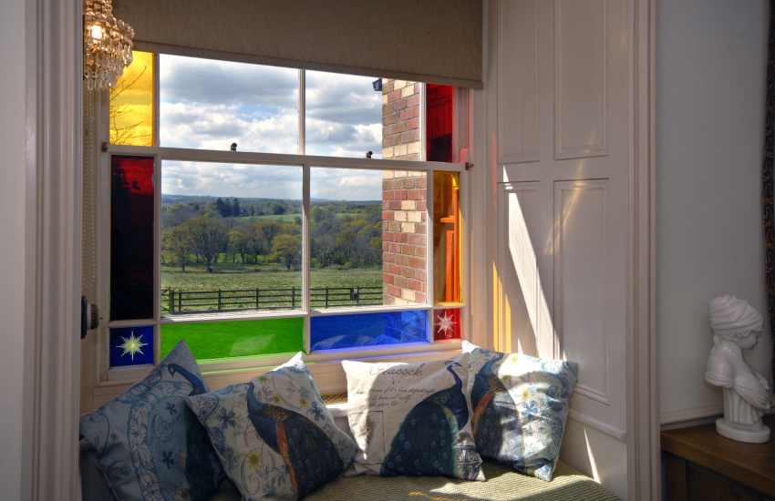 Countryside views from the sitting room