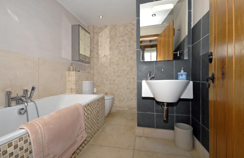 Ground floor bathroom with double shower