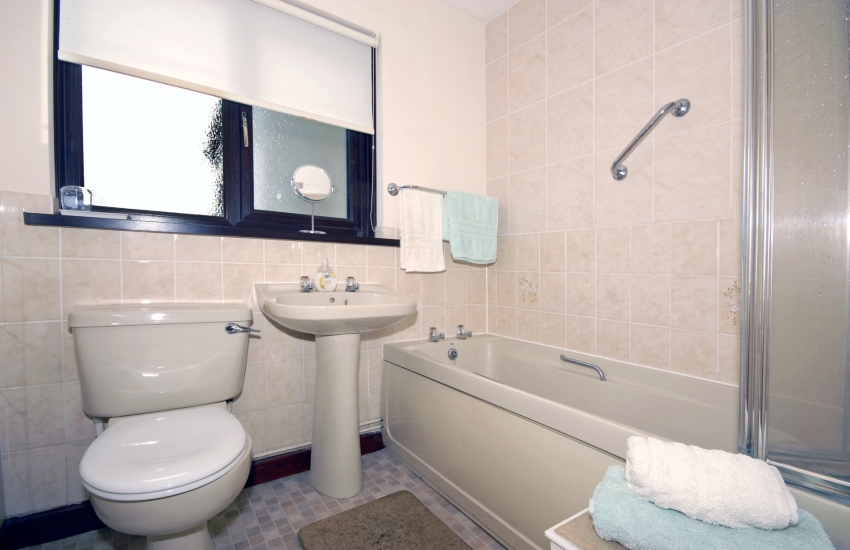 St Davids holiday home - bath/shower room