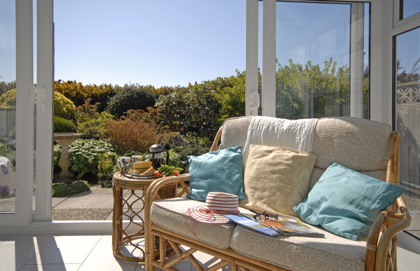 Holiday cottage in St Davids - conservatory