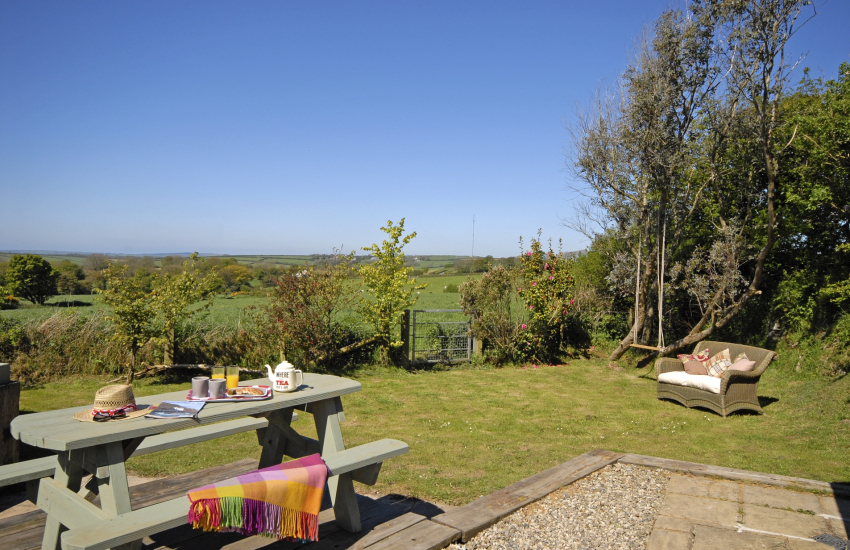 Private gardens with panoramic countryside views